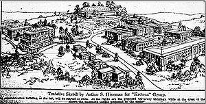 Krotona - Architectural concept drawing, LA Times, 29 September 1912