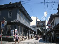 Kurokabe square and main shopping street of central Nagahama