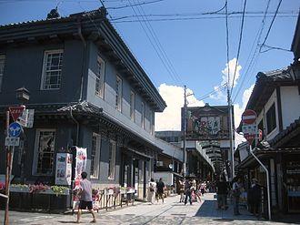 Nagahama, Shiga - Kurokabe square and main shopping street of central Nagahama