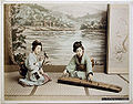 Kusakabe Kimbei - 212 Playing koto and shamisen.jpg