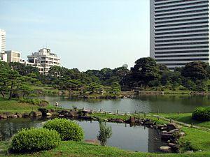 Kyu Shiba Rikyu Garden - View of the garden