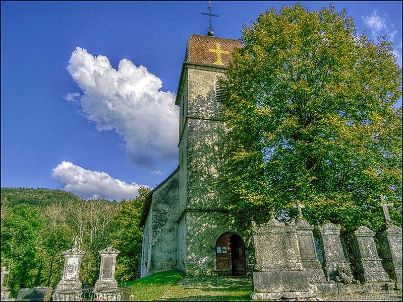 L'église à Vaufrey (Doubs)