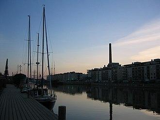 Aura (Archipelago Sea) - Image: Länsiranta, ilta