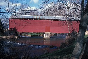 Loys Station Covered Bridge - The original bridge in 1985