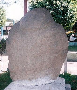 Potbelly sculpture - A potbelly sculpture from Monte Alto, on display in La Democracia