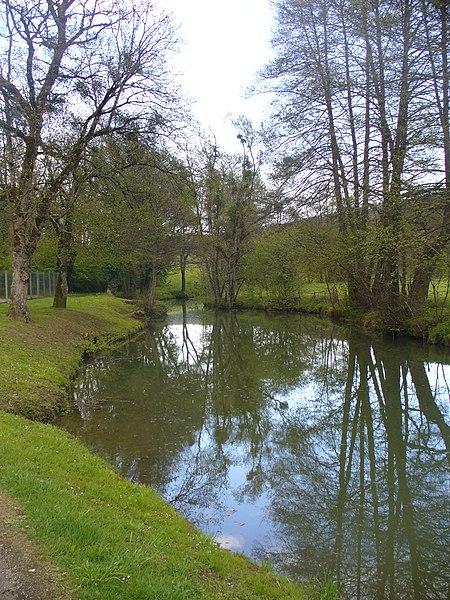 Photographie de La Traire prise depuis Nogent dit le-Bas (Haute-Marne) sur la rive droite.