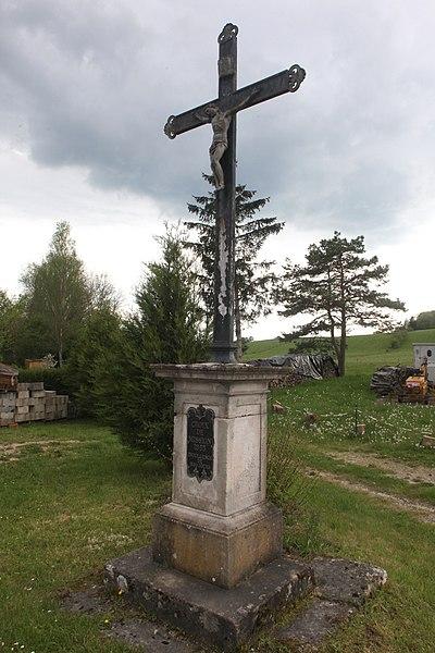 Croix de mission à La Vèze (Doubs).