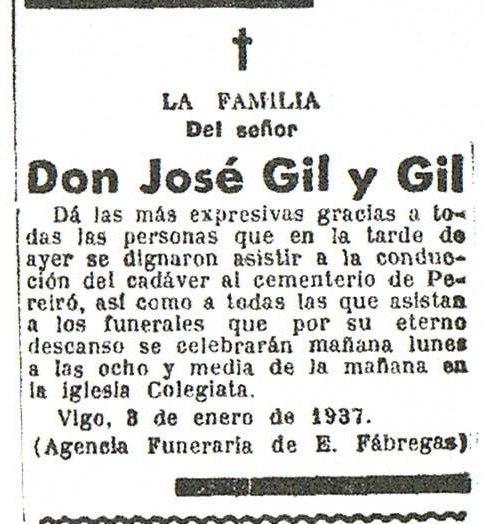 Necrolóxica no Faro de Vigo, 1937.