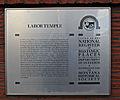 Labor Temple plaque, Missoula Montana.jpg