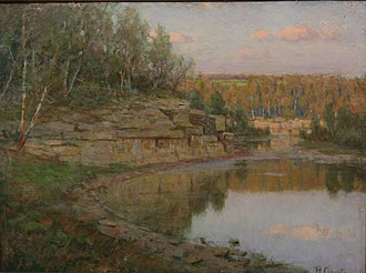 Herbjørn Gausta - Southern Minnesota Lake Scene: Gausta before 1888