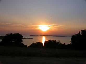 Lake Edward - Lake Edward from Mweya in Queen Elizabeth National Park