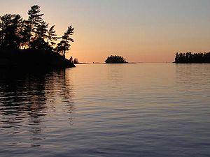 Lake Nipissing - Sunset at Lake Nipissing