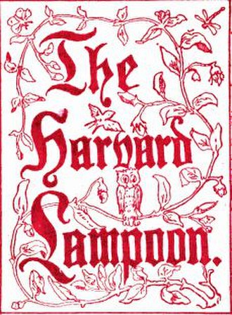 The Harvard Lampoon - Title Dingbat from an 1886 Lampoon