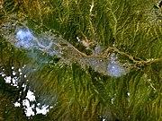 Satellite image of Lanzhou