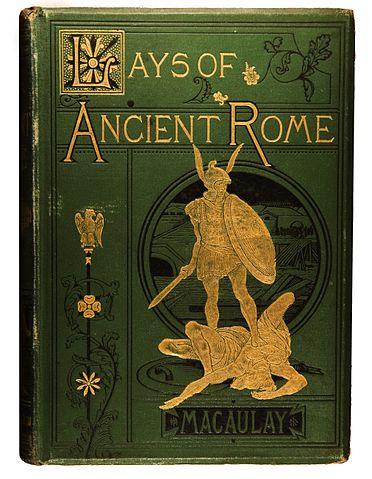 Обложка книги стихотворений Маколея «Песни Древнего Рима» (1881).