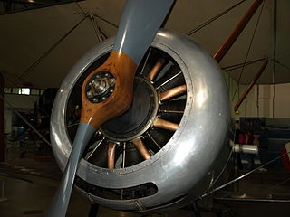 Le Rhône 9C rotary aircraft engine