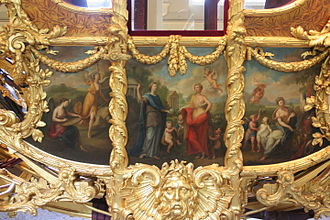 Gold State Coach - A close up of the artwork by Giovanni Cipriani