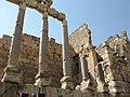 Lebanon, Baalbek, Corinthian capitals in Baalbek, Ancient Roman columns.jpg