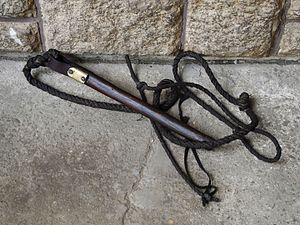 Whip - Whip made in Silesia, Poland, made to enhance its cracking sound, used in folk Easter celebrations of Siuda Baba