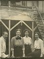 Left to right- Unidentified man, Johanna Westerdijk (1883-1961), and two unidentified women (8492440066).jpg