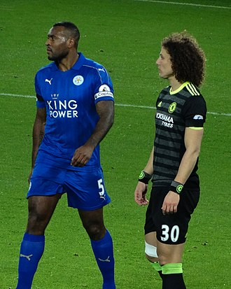 Wes Morgan - Morgan (left) playing for Leicester City in 2017