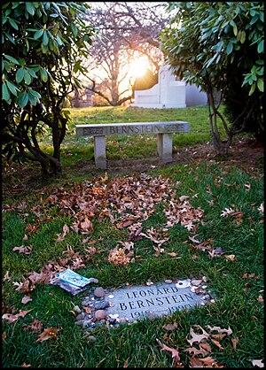 Grave of Leonard Bernstein, an American conduc...