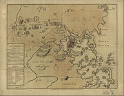 1775 map of the Boston area (contains some inaccurate information)