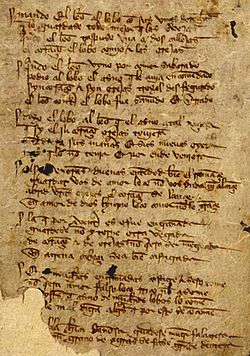 Folio 3r.º del manuscrito T (Toledo) del Libro de buen amor de la ...