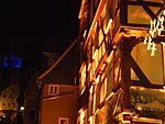 Lichterfest mit Blauschloss in Marburg und Gasse mit Bilderrahmengeschäft Langgasse Untergasse 2016-11-25.jpg