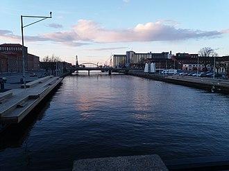 Lidköping - Image: Lidan river in Lidköping in the evening
