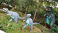 Life-size sculptures of dinosaurs at Kanpur Zoo (2015).jpg