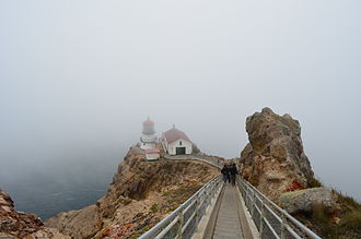 Point Reyes Lighthouse - Point Reyes Light is most of the year surrounded by fog