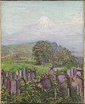 Lilla Cabot Perry, Mount Fuji with Gravestones, Harvard.jpg