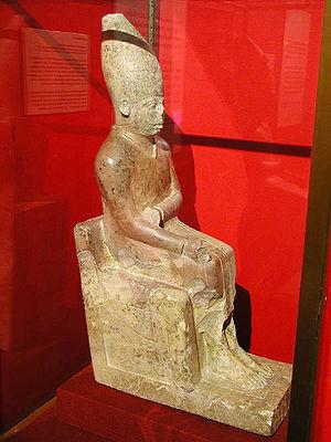 Khasekhemwy - Image: Limestone statue of Khasekhemwy