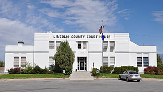Lincoln County, Nevada - Image: Lincoln County Courthouse in Pioche