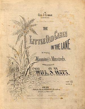 The Little Old Log Cabin in the Lane - Image: Little Log Cabin 1871