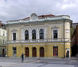 Slovenian Philharmonic Orchestra - Philharmonic Hall, the main building of the Slovene Philharmonic Orchestra, at Congress Square in Ljubljana