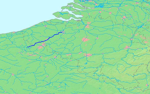 Lys (river) - The course of the Lys/Leie