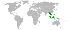 Location of Southeast Asia.