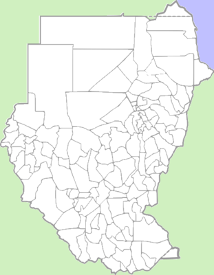 Location map Sudan