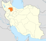 Locator map Iran Zanjan Province