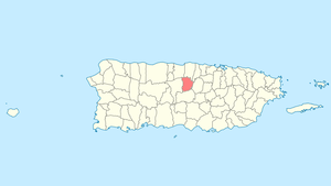 Location of Morovis in Puerto Rico
