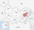 Locator map of Arrondissement Besançon 2018.png