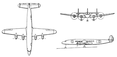 Lockheed C-121C (L-1049) Super Constellation drawings