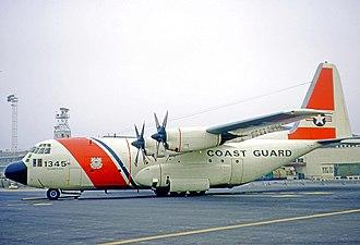 Coast Guard Air Station Elizabeth City - Lockheed HC-130B Hercules of CGAS Elizabeth City in 1971