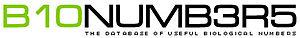 Bionumbers - The Bionumbers logo.