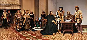 Château de Langeais - Modern tableau of the marriage of Anne of Brittany to King Charles VIII