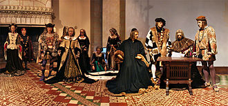 "Anne of Brittany - Waxwork reenactment from the marriage of Duchess Anne of Brittany and King Charles VIII of France in the ""marriage hall"" of the Château de Langeais."
