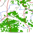Loiret departement of France map.png
