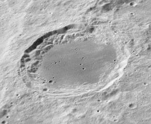 Lomonosov (lunar crater) - Image: Lomonosov crater AS16 M 3008 ASU